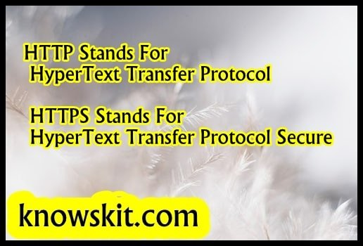 Http Stands For